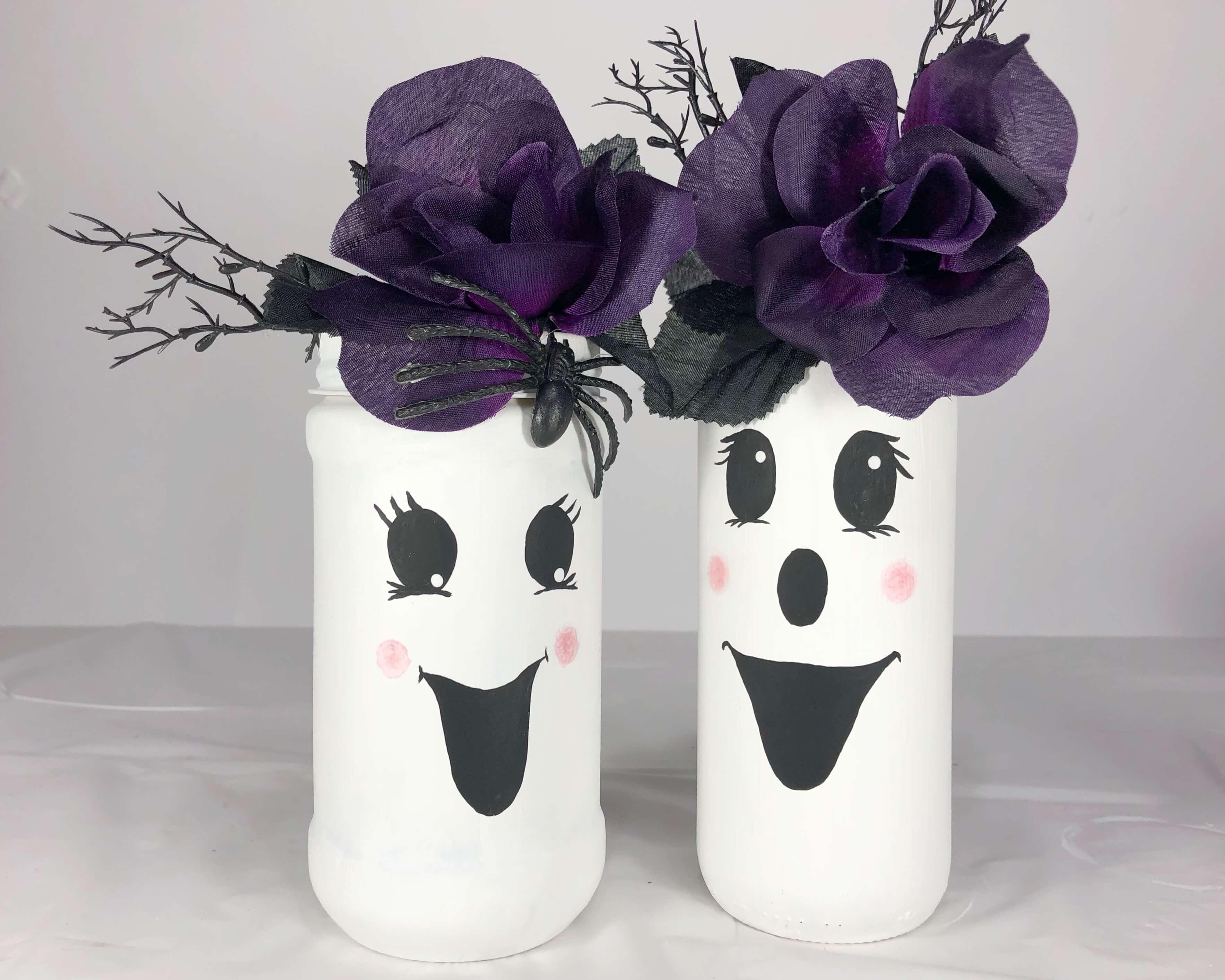 Glass Jar Ghost Craft