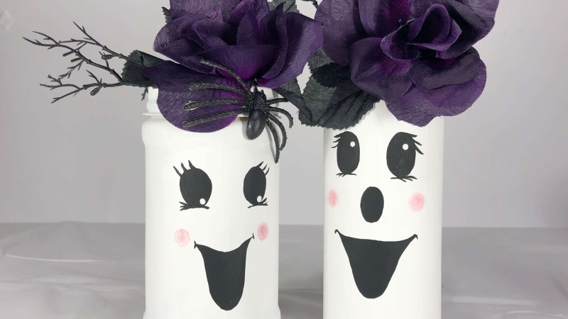 Glass Jar Ghost Craft