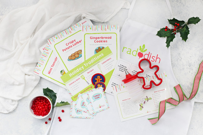 Raddish Gets Kids Cooking This Holiday Season with Festive Kits and Helpful Tips