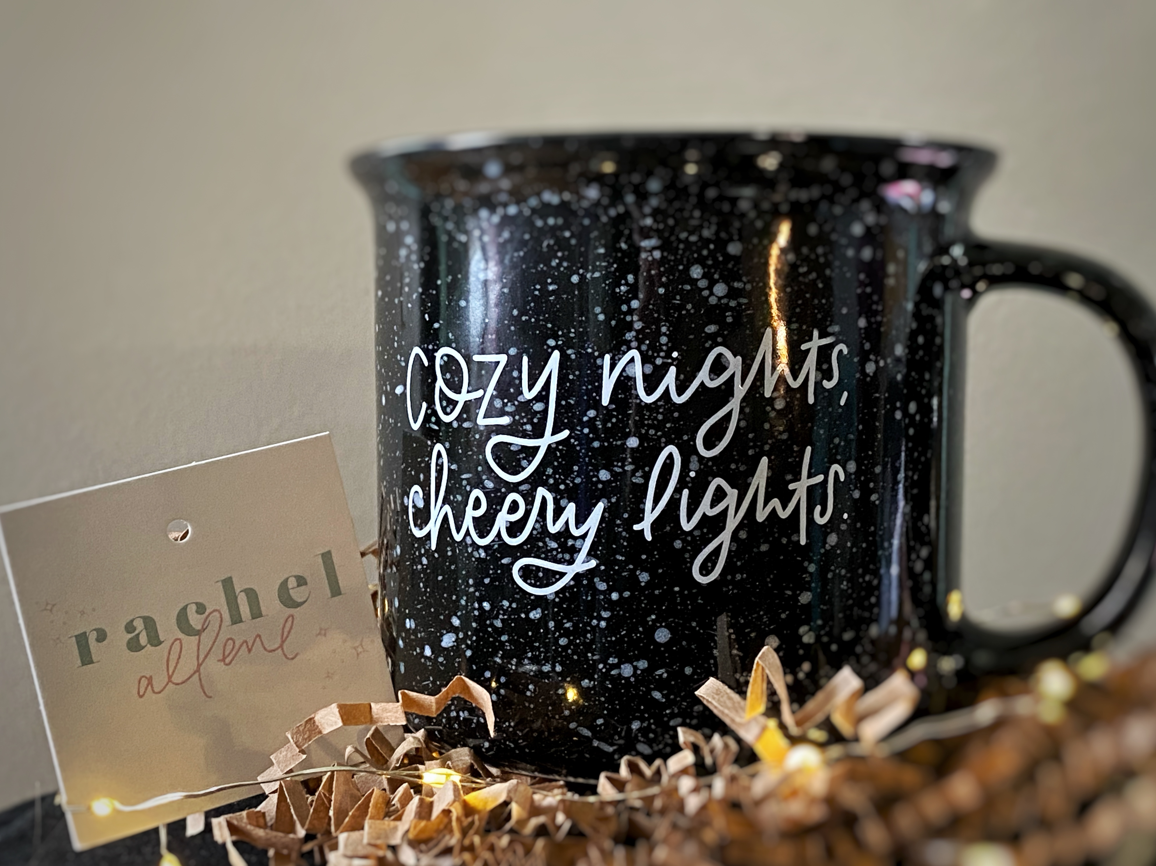 "I'm Loving My ""Cozy Nights, Cheery Lights"" Mug by Rachel Allene-Review"