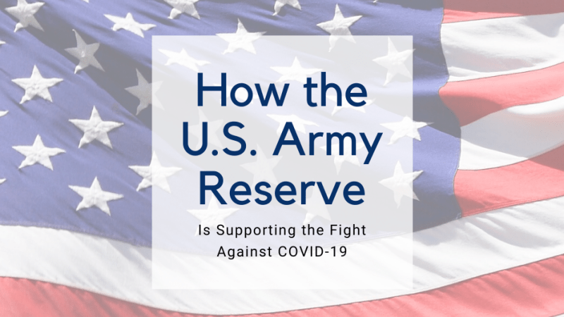 How the U.S. Army Reserve is Supporting the Fight Against COVID-19