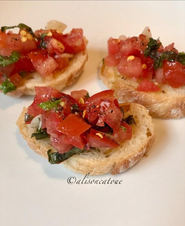 A Bruschetta and Tomato and Basil Recipe