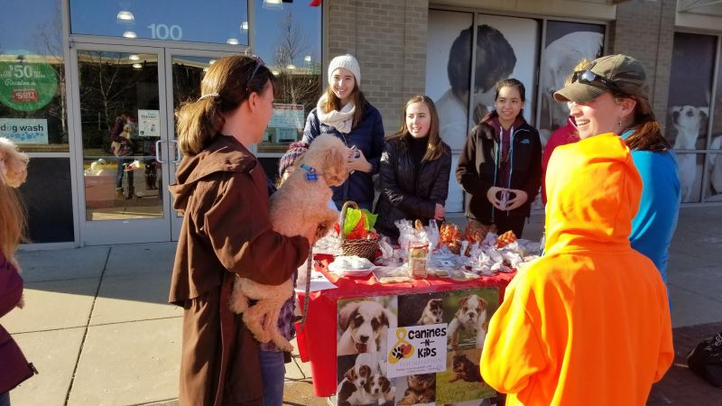 Canines-N-Kids' BARKE SALES Give Kids an Outdoor, Safer Way to Raise Funds to Beat Cancers Shared by Kids and Dogs
