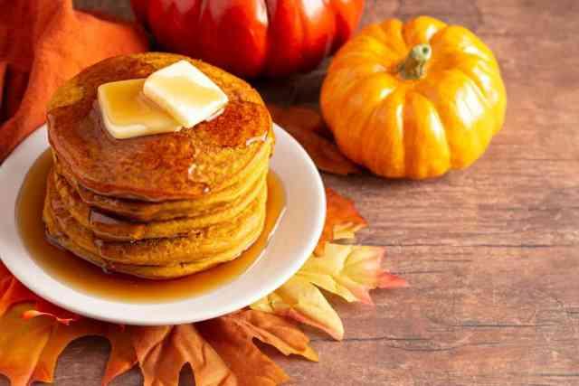 Grandma's Pumpkin Oatmeal Pancakes