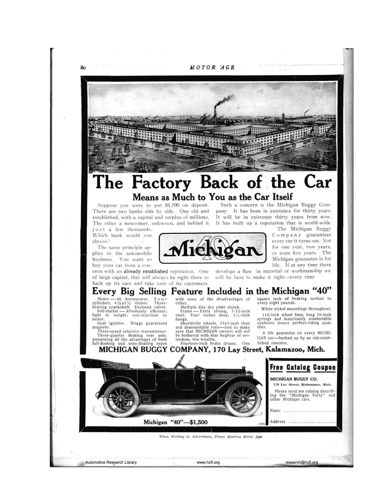 Company History   Mighty Michigan 40, Michigan Motor Car Company ...