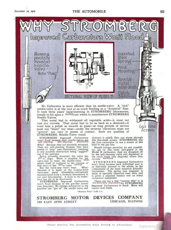Stomberg B Advert. - Dec. 1912
