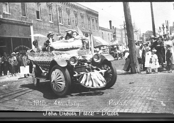 July 4, 1915, corner of 3rd & Main, headed South on Main Street, Hobart, Indiana