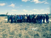 Students from Lars Brudvig's restoration ecology class at Michigan State University took part in a conservation education workday at Goose Creek Grasslands Nature Sanctuary.