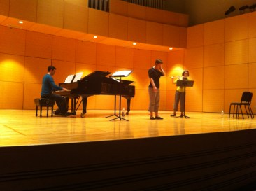 Rehearsal in the Staples Recital Hall at Central Michigan University