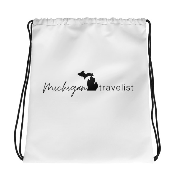 Michigan Travelist drawstring bag
