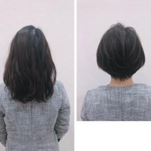 癖っ毛で広がる方を、表参道で大人な『痩せ見え』ショートに。