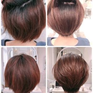 量が多くて、広がる、膨らむくせ毛の悩み。ショートヘアを諦めないで!縮毛矯正実例