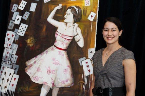 """Lost in Wonderland"" and Michiko Maruyama | CCME White Coat Warm Art Exhibit ©2011 Gustavo Toledo"