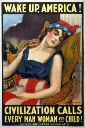 WAKE UP, AMERICA! (Poster by James Montgomery Flagg, 1917)