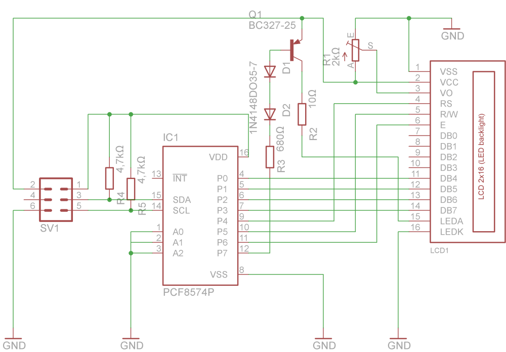 medium resolution of connecting a hd44780 display to a raspberry pimichls tech blog mainboard schematic i2c schematic lcd schematic