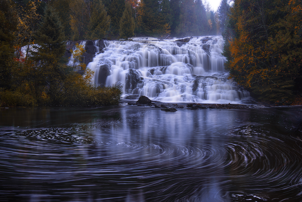Fall Weather Wallpaper Fall At Bond Falls Michigan In Pictures