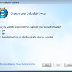 Internet Explorer ne sera pas defini en tant que navigateur par defaut lors d'une installation express