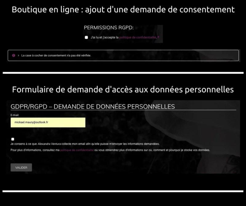 RGPD - WooCommerce - demande de consentement
