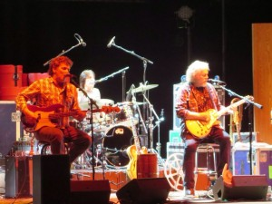 Playing on stage -- Randy Bachman Band - Vinyl Tap Tour - Massey Hall Toronto, March 15, 2014