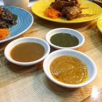 Sauces: Green Sauce, Gravy, Peanut Sauce