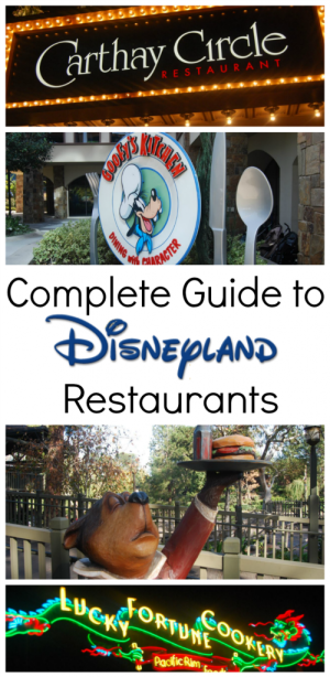 complete guide to disneyland restaurants