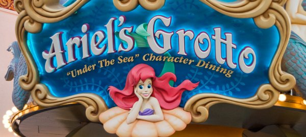 disney character dining ariel's grotto