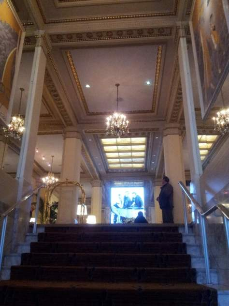 Entrance to lobby of Hotel Deluxe in Portland Oregon.