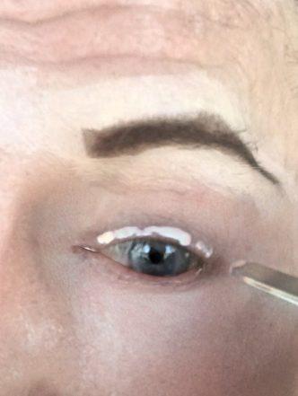 crossdresser makeup procedure for eyelash glue