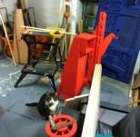 Mick's workshop with felix
