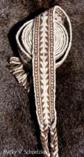 Ceinture en laine naturelle motif simple, 22 tablettes