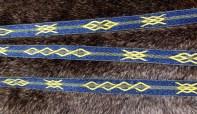 Galon en lin avec motifs de Mammen, technique du sergé avec 21 tablettes