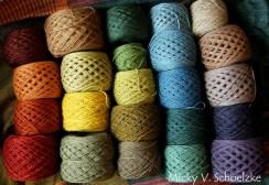 Petit aperçu de mes teintures végétales sur laine mérinos