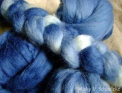 Mohair et laine indigo