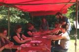 Atelier découverte tissage aux tablettes, fetival Fibrophiles, Bretagne, 2016
