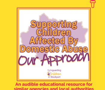 Portfolio Supporting children affected by domestic abuse podcast logo