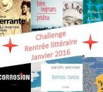 Challenge Rentrée littéraire janvier 2016