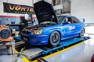 Subaru on Dyno