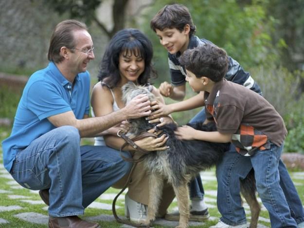 familia y perro