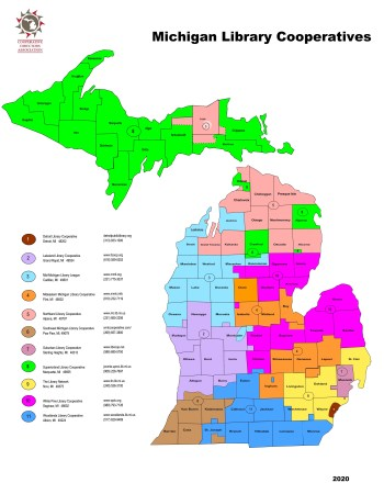 Map of Michigan Cooperative Regions