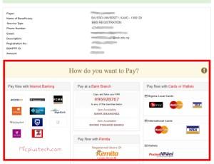 Bayero University, Kano Payment Procedure