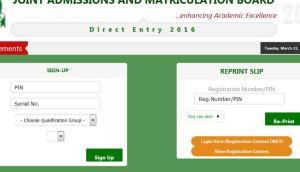 Jamb Direct Entry DE Registration Form