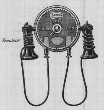 Indicateur de direction - téléphone-récepteur pour signaux par cloches sous-marines