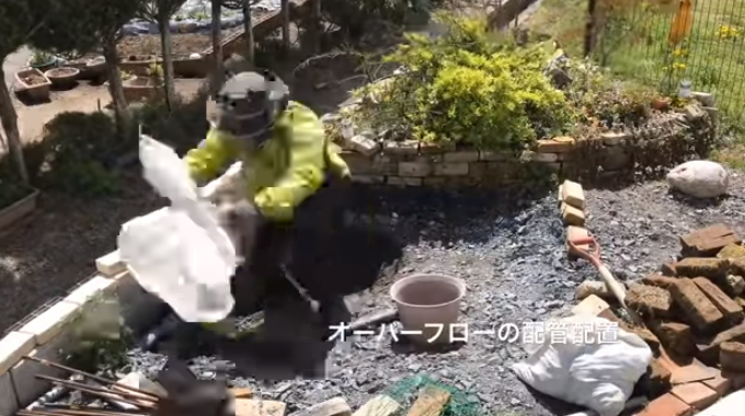 DIYでメダカのビオトープ、庭池を作ってみました I tried to make a biotope garden pond for medaka with DIY