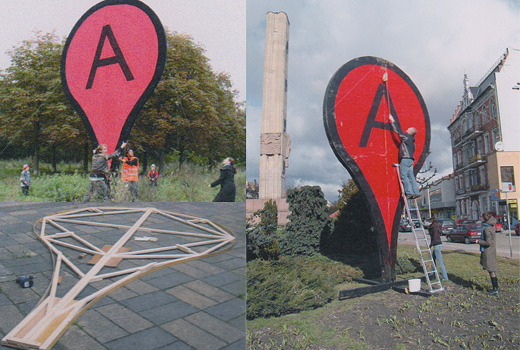 Aram Barthall's work to consider the center of your city, connecting online with offline