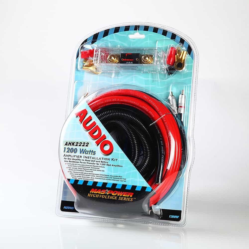 medium resolution of 4 gauge complete car amp lif1200 watts complete amplifier wiring ahk2222 code ahk2222