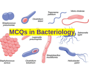 MCQs in Bacteriology