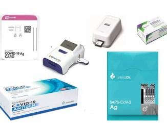 COVID-19 antigen testing devices