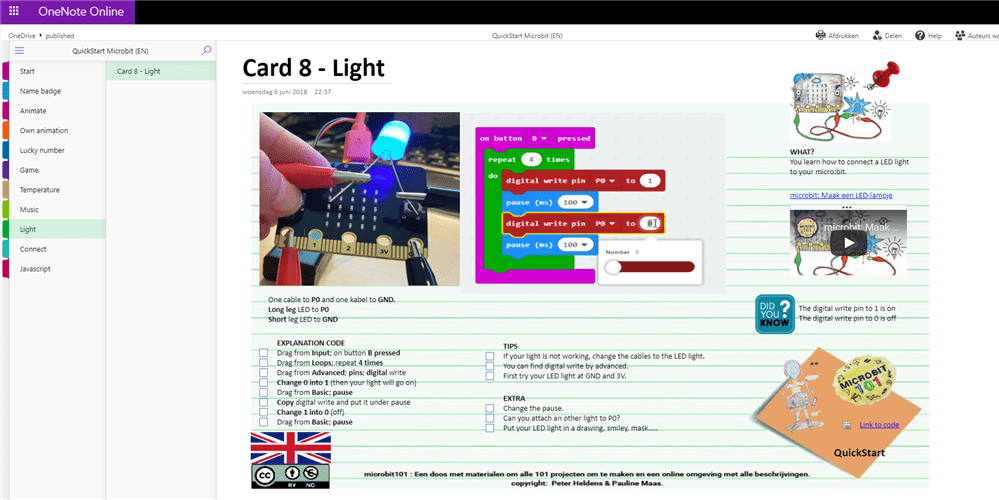 QuickStart cards English