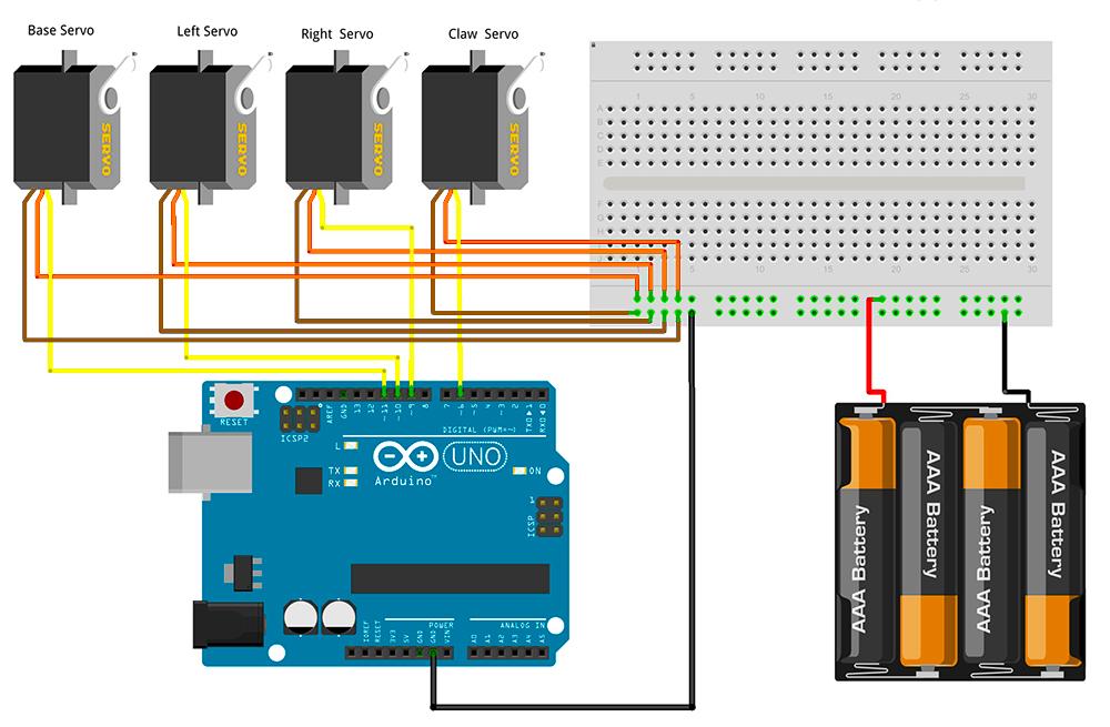 servo controller wiring diagram