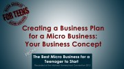 Creating a Business Plan for Your Micro Business – Your Business Concept
